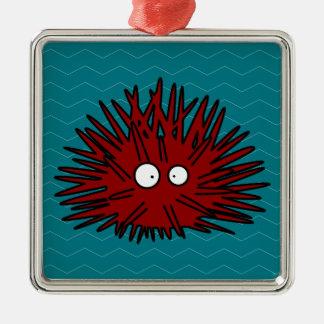 Ornamento De Metal Oceano vermelho uni espinhoso do ouriço do