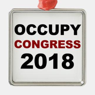 Ornamento De Metal Ocupe o congresso 2018