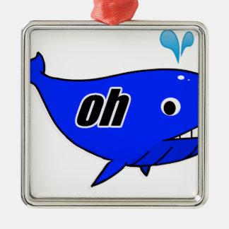 Ornamento De Metal Oh Wale oh