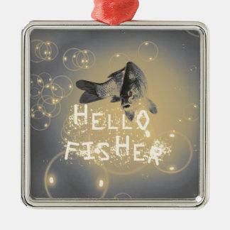 Ornamento De Metal Olá! fisher