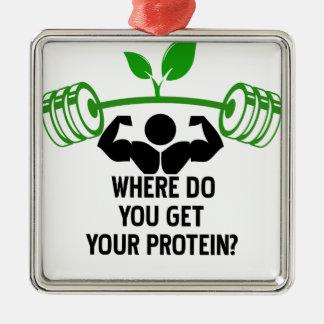 Ornamento De Metal Onde você obtem sua proteína