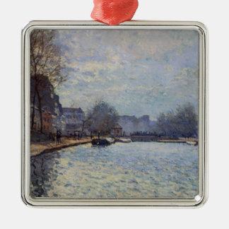 Ornamento De Metal Opinião de Alfred Sisley | do canal St Martin,