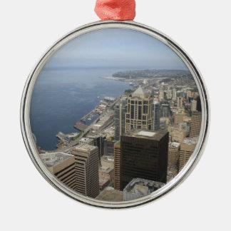 Ornamento De Metal Opinião de Arial de Seattle