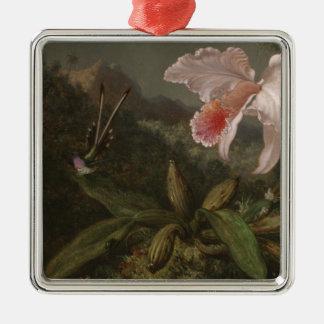 Ornamento De Metal Orquídeas e colibris da selva