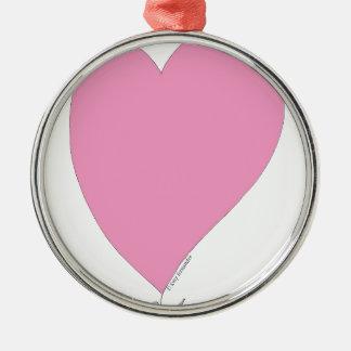 Ornamento De Metal os corações cor-de-rosa