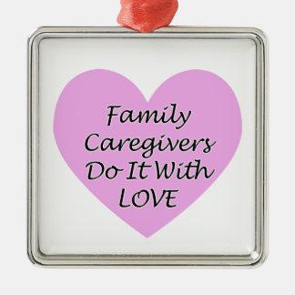 Ornamento De Metal Os cuidadors de família fazem-no com amor