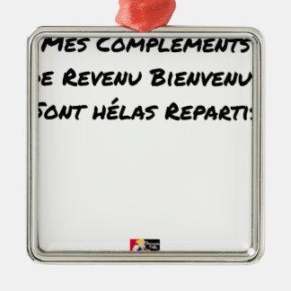 ORNAMENTO DE METAL OS MEUS COMPLEMENTOS DE RENDIMENTO BEM-VINDOS SÃO