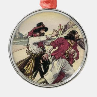 Ornamento De Metal Os piratas do vintage, duelo lavram a morte na