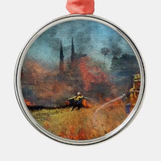 Ornamento De Metal Os sapadores-bombeiros são nossos heróis
