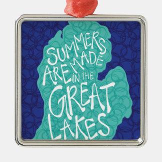 Ornamento De Metal Os verões são feitos nos grandes lagos - azul