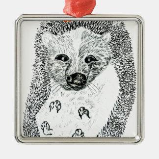 Ornamento De Metal Ouriço bonito Drawing2