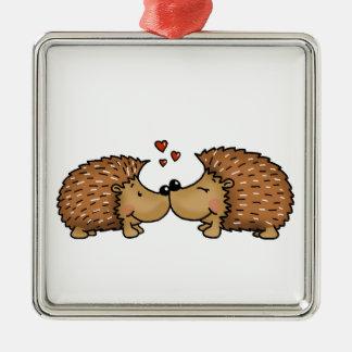 Ornamento De Metal Ouriços no amor
