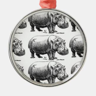 Ornamento De Metal ouro do hippopotamus