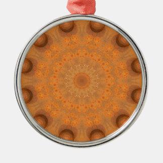 Ornamento De Metal Oxidação-Mandala, cores de Rust_843_2