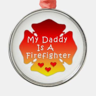 Ornamento De Metal Pai do sapador-bombeiro