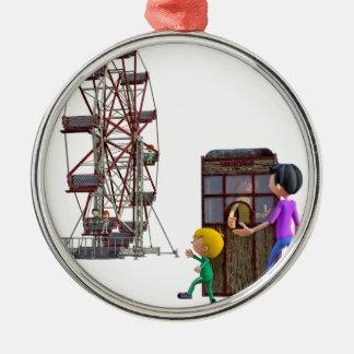 Ornamento De Metal Pai e filho prontos para montar uma roda de Ferris