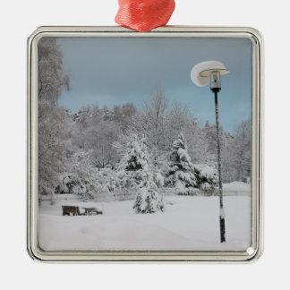 Ornamento De Metal País das maravilhas do inverno