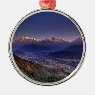 Ornamento De Metal Paisagem da vista: HIMALAYA POKHARA NEPAL