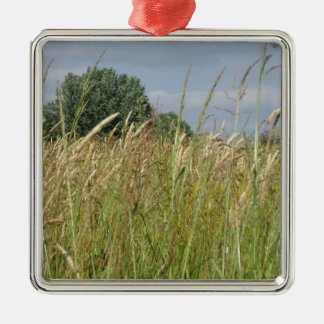 Ornamento De Metal Paisagem do verão do campo selvagem no campo