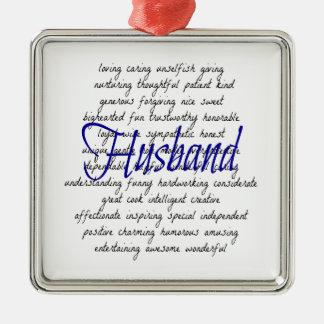Ornamento De Metal Palavras para o marido
