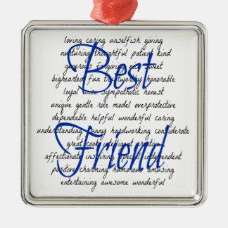 Ornamento De Metal Palavras para o melhor amigo masculino