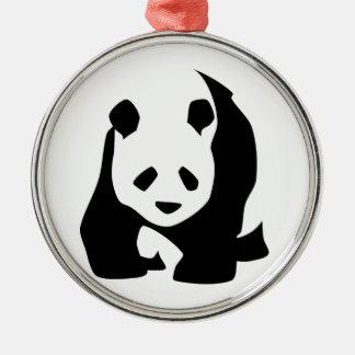 Ornamento De Metal Panda