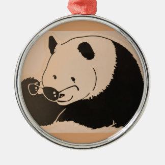 Ornamento De Metal Panda legal com máscaras