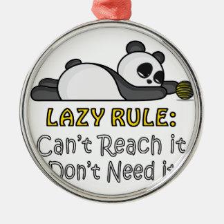 Ornamento De Metal Panda preguiçosa