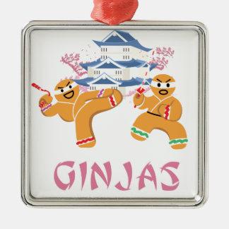 Ornamento De Metal Pão-de-espécie de Ninja do Natal de Ginjas Ninjas