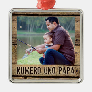 Ornamento De Metal Papá da ONU de Numero, foto Madeira-Moldada