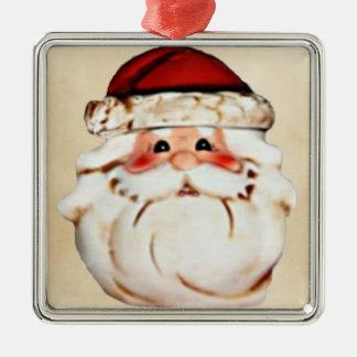 Ornamento De Metal Papai Noel clássico enfrenta