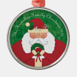 Ornamento De Metal Papai noel da Noite de Natal personalizado
