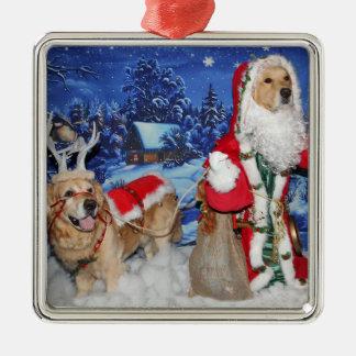 Ornamento De Metal Papai noel do Victorian do Natal do golden