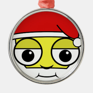 Ornamento De Metal Papai Noel enfrenta