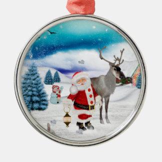 Ornamento De Metal Papai Noel engraçado