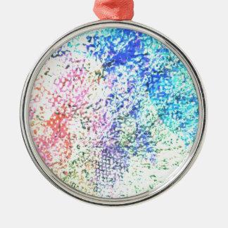 Ornamento De Metal Para o amor da cor - Pastel do caleidoscópio