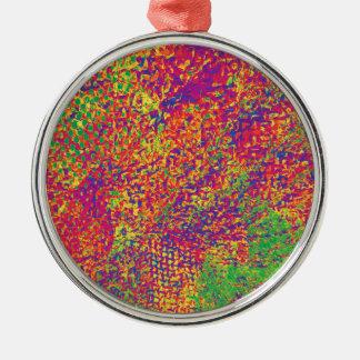 Ornamento De Metal Para o amor das cores - Psychadelic