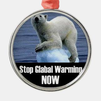 Ornamento De Metal Pare o aquecimento global agora
