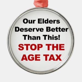 Ornamento De Metal Pare o imposto da idade