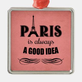 Ornamento De Metal Paris é sempre uma boa ideia