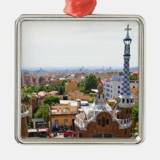 Ornamento De Metal Parque Guell em Barcelona, espanha