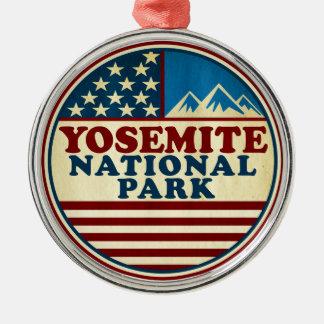 Ornamento De Metal Parque nacional Califórnia de Yosemite patriótica