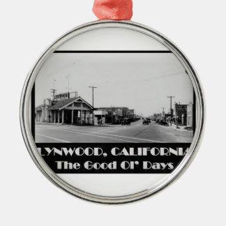 Ornamento De Metal Parte traseira de Lynwood Califórnia quando
