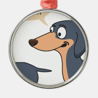 Ornamento De Metal parte traseira do cão