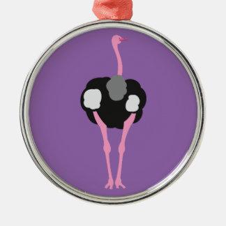 Ornamento De Metal Pássaro da avestruz