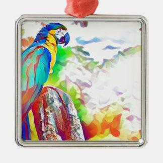 Ornamento De Metal Pássaro de Amazon