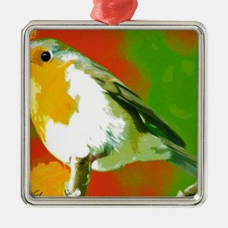 Ornamento De Metal Pássaro do pisco de peito vermelho