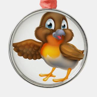 Ornamento De Metal Pássaro do pisco de peito vermelho dos desenhos
