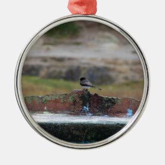 Ornamento De Metal pássaro em uma parede