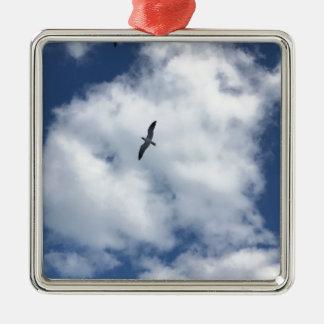 Ornamento De Metal Pássaros nas nuvens